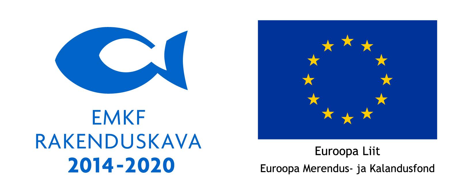 Logo koos EL embleemiga (horisontaalne) EMKF