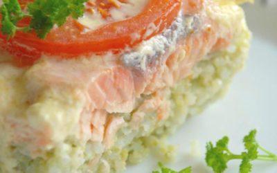 Запеканка рисовая с лососем