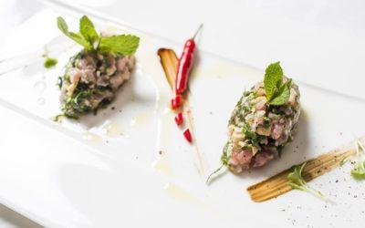 Тартар из тунца в тайском стиле